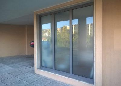 CONDOMINIO - TS - portoncino alluminio e vetrata