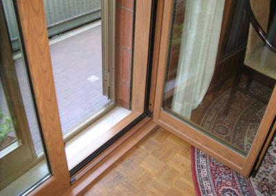Serramenti alluminio effetto legno per abitazione privata a Trieste