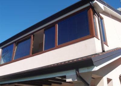 Trieste veranda scorrevole alluminio per abitazione privata