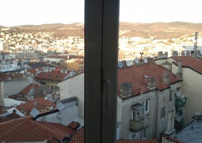 veranda scorrevole alluminio taglio termico per abitazione privata Trieste
