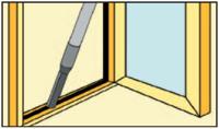 pulizia interna serramento